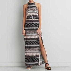 AEO | Soft & Sexy Print Halter Maxi Dress